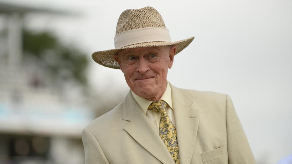 Geoffrey Boycott at the third test match between England and the West Indies at Lord's, London on September 7, 2017.