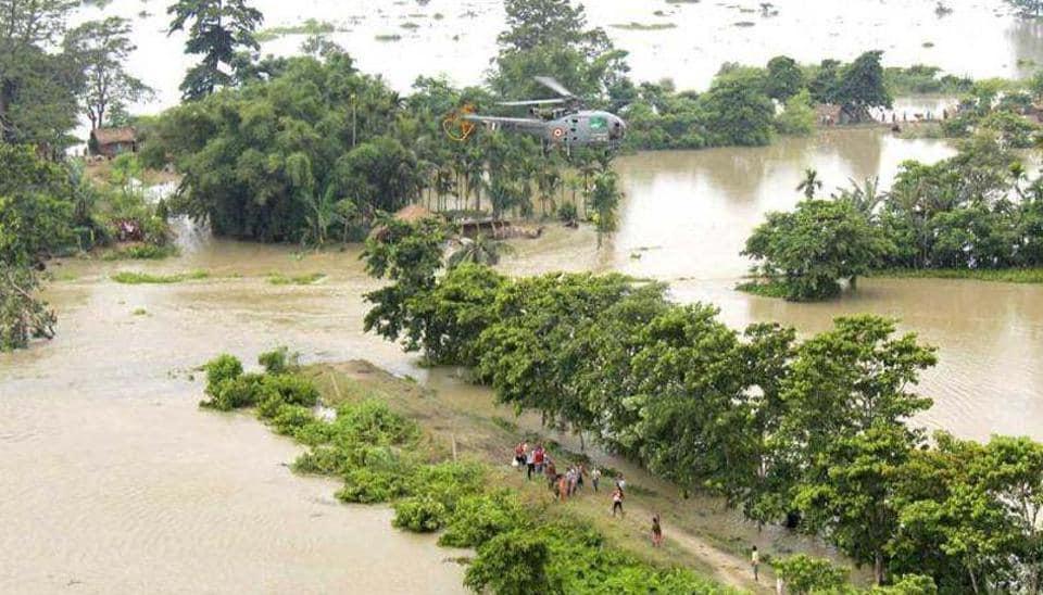 Flash flood,Assam flood,flood in Assam