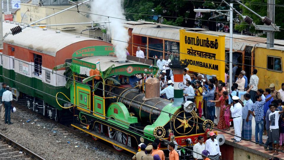 A heritage run of the world's oldest steam engine locomotive from Chennai Egmore Station to Kodambakkam Station was conducted by Southern Railway officials in Chennai on Sunday.