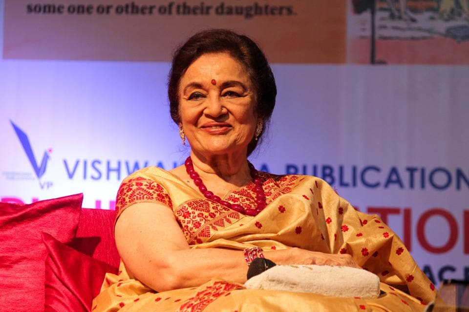 Asha Parekh at the concluding day of PILF 2017 on Sunday.