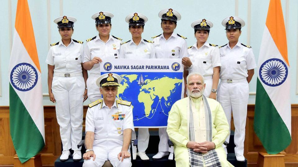 Indian Navy,all women navy team,circumnavigation