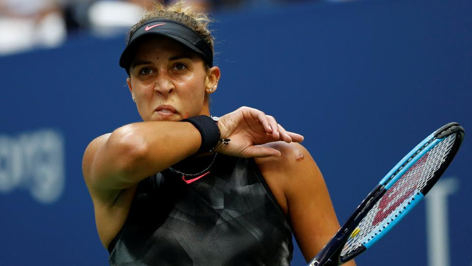 Madison Keys could not find her touch and could not win a single game in  the second set. (REUTERS)
