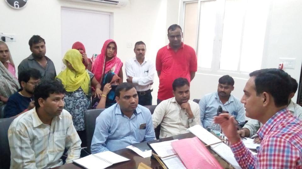 Saumya,district administration officials,Silver Shine School