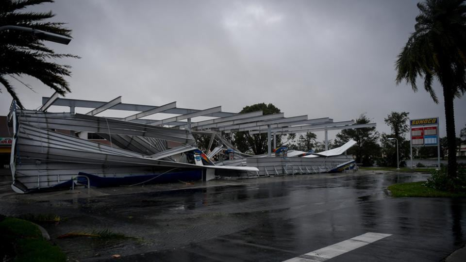 The crumbled canopy of a gas station damaged by Hurricane Irma is seen in Bonita Springs, Florida. The last hurricane as powerful as the Irma was  hurricane Andrew that smashed into suburban Miami in 1992 with winds topping 165 mph, blowing away over 125,000 homes. The damage in Florida totaled $26 billion had left at least 40 people dead. (Bryan Woolston / REUTERS)