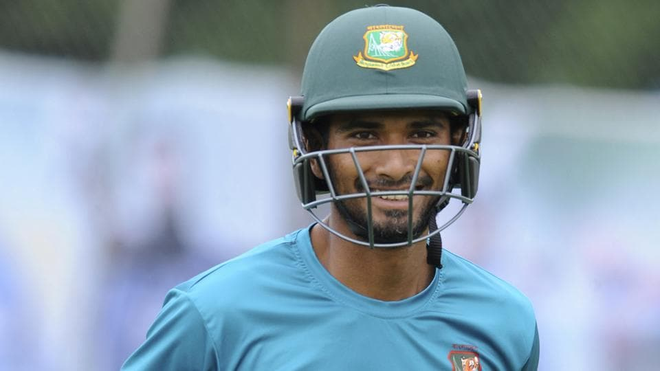 Bangladesh's Mahmudullah looks on during a nets practice session ahead of their ICC Champions Trophy semifinal match.