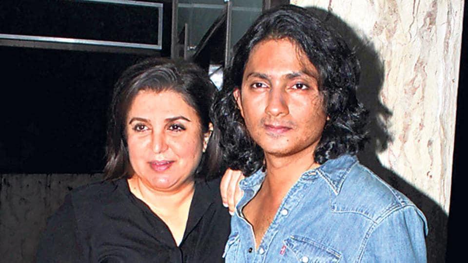 Farah Khan and Shirish Kunder at Sonu Nigam's birthday bash.