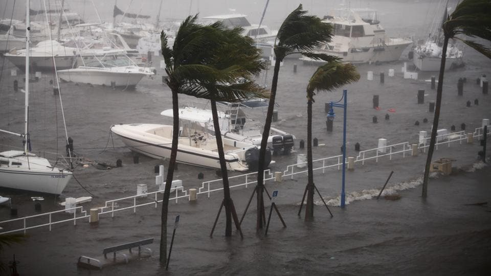 Hurricane Irma toppled cranes, swallowed streets and left millions without power as it unleashed its terrifying fury on Florida after leaving a trail of death and destruction through the Caribbean. While it arrived in Florida as a Category 4 hurricane on Sunday, by nightfall it was down to Category 2 with winds of 105 mph. There were no immediate confirmed reports of any deaths in Florida in addition to the 24 people killed during Irma's destructive trek across the Caribbean. (Carlos Barria / REUTERS)