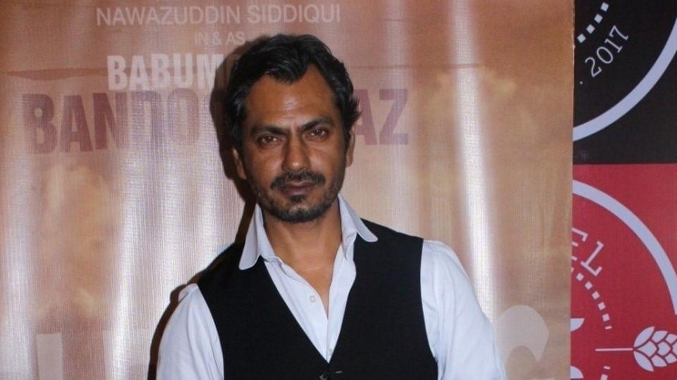 Nawazuddin Siddiqui during the success party of Babumoshai Bandookbaaz in Mumbai.