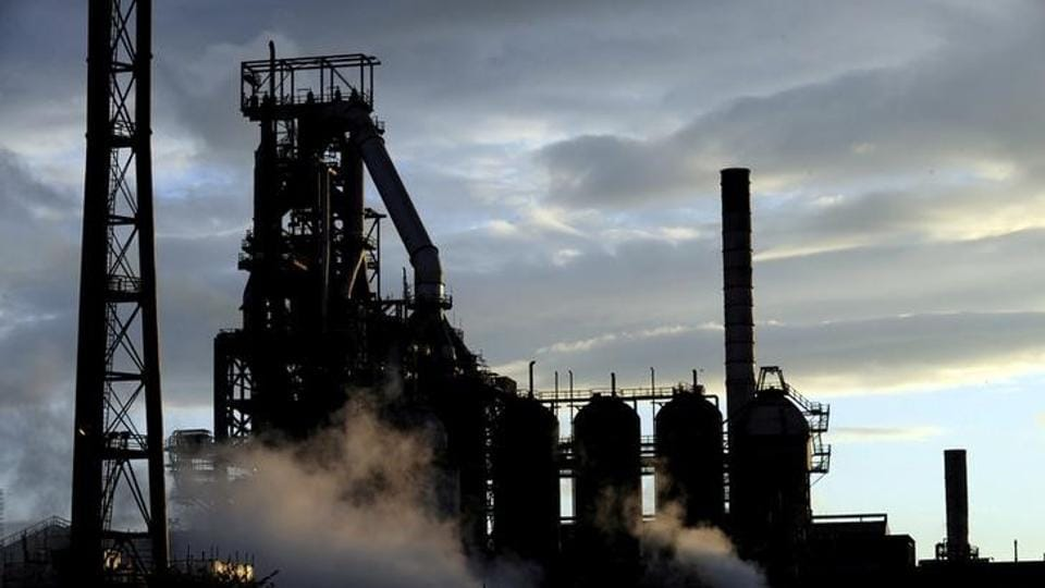 File photo of the Tata Steel plant seen at sunset in Port Talbot, South Wales, in May 2013.