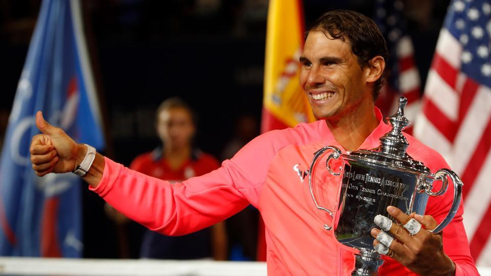 Nadal added to his U.S. Open triumphs in 2010 and 2013 and improved to 16-7 in Grand Slam finals. (REUTERS)