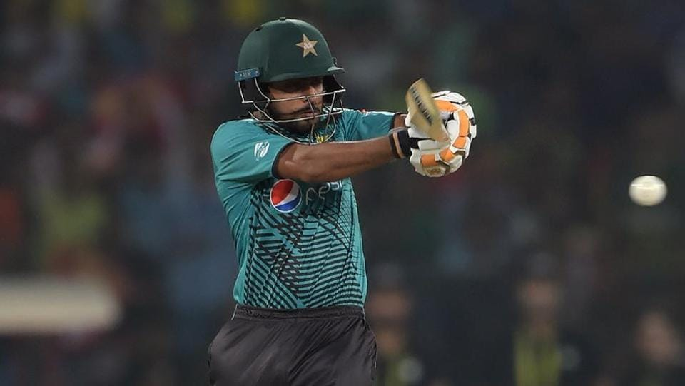 Babar Azam (in pic) and Ahmed Shehzad then combined well to string together a solid partnership of 122 runs for the second wicket. (BCCI )
