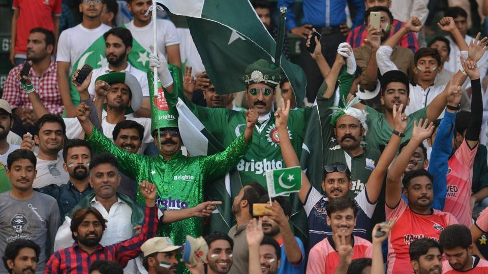 Pakistan fans were indeed having the time of their lives at the Gaddafi Stadium.  (Twitter )