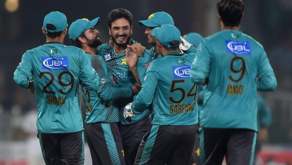 Pacers Sohail Khan, Rumman Raees and leg-spinner Shadab Khan scalped two wickets each to help their team win with ease and take a 1-0 lead in the three-match series. (Twitter )