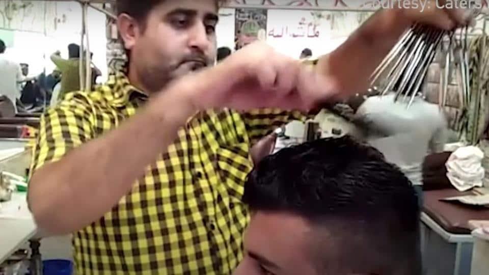 Scissorhands,Pakistan barber,Sadiq Ali