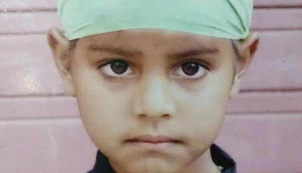 File Photo of 6-year-old Shubhpreet Singh, who was strangulated to death.