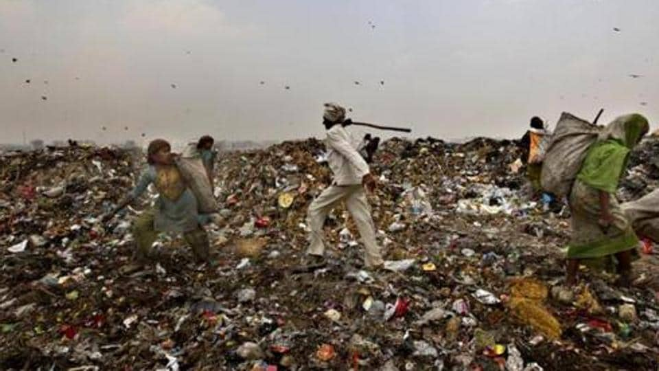 A massive chunk of Delhi's Ghazipur landfill fell into a canal running alongside on September 1, killing two people and washing away four vehicles on the adjoining road.