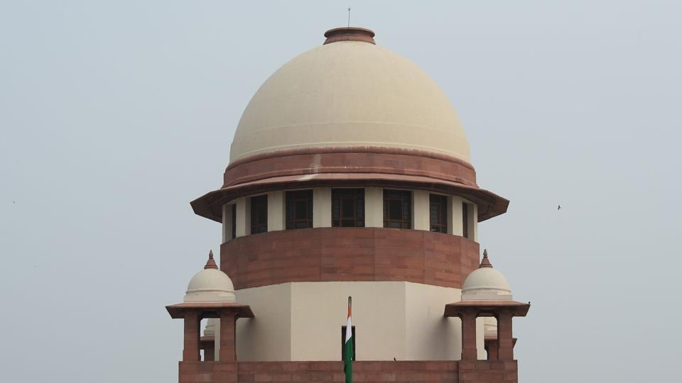 The Supreme Court building is seen in New Delhi.