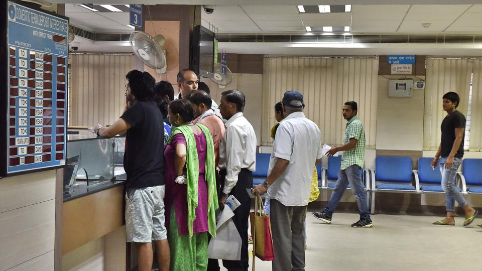 SBI branch at New Colony, in Gurgaon,  on Thursday, August 31, 2017.