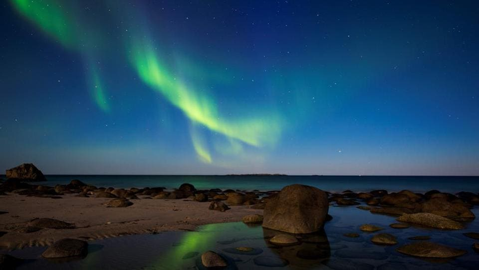 The Aurora Borealis activity takes place throughout the year and in all types of weather. However, to actually see the Aurora requires clear, dark skies usually well away from streetlamps and other sources of light pollution. (Jonathan Nackstrand / AFP)