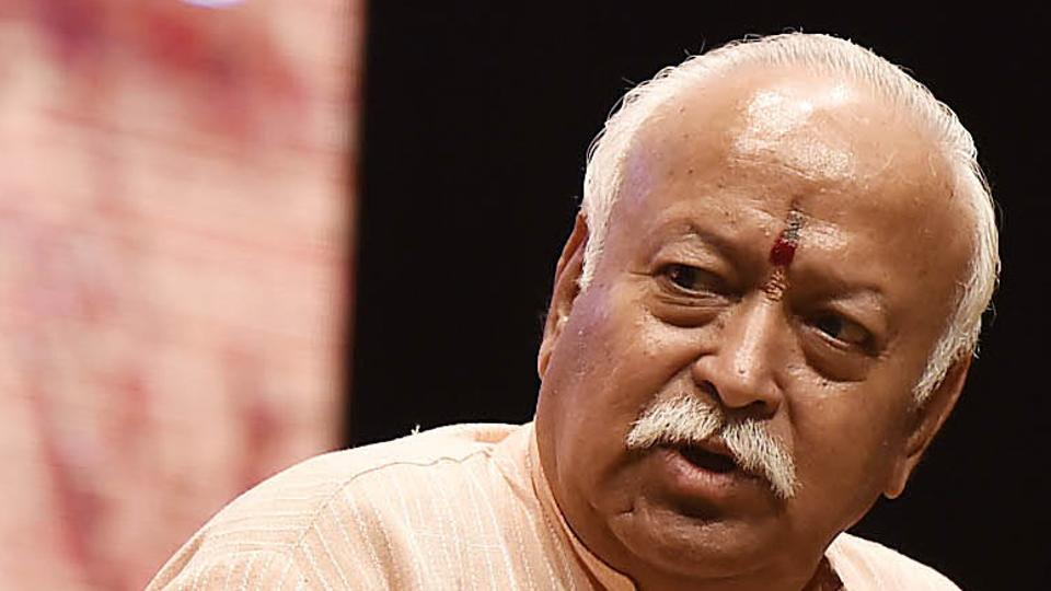 RSS chief Mohan Bhagwat made the comments in his customary Dussehra speech.