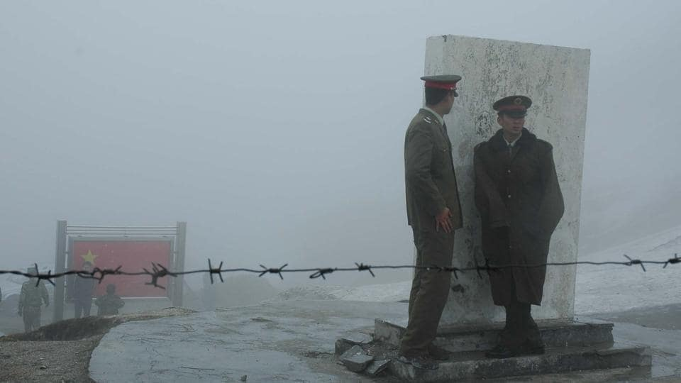Chinese army at Nathu La pass.
