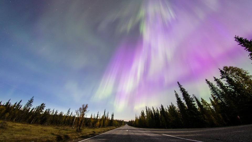 Two high-intensity solar flares were emitted on September 06, 2017, the second of which was the most intense recorded since 2005 according to the Space Weather Prediction Centre (SWPC). The Northern Lights seen here were captured near Lapland in Finland. (Alexander Kuznetsov / REUTERS)