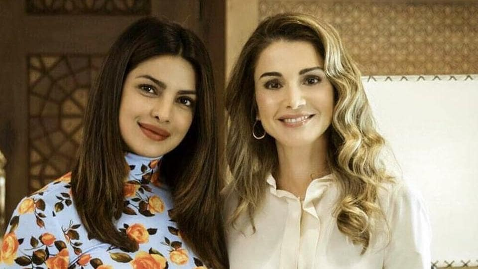 Priyanka praised Queen Rania and the Jordan government for their work towards the Syrian refugees.