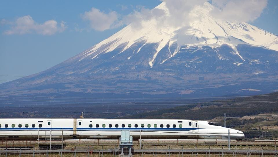 Taking a cue from Japan and its bullet train network, Gujarat will see the foundation stone of the Ahmedabad-Mumbai bullet train laid by the two heads of state at the Sabarmati Athletic Grounds. The train will have a capacity of 750 people and is expected to cut the commute between the two cities by four hours. (Shutterstock)
