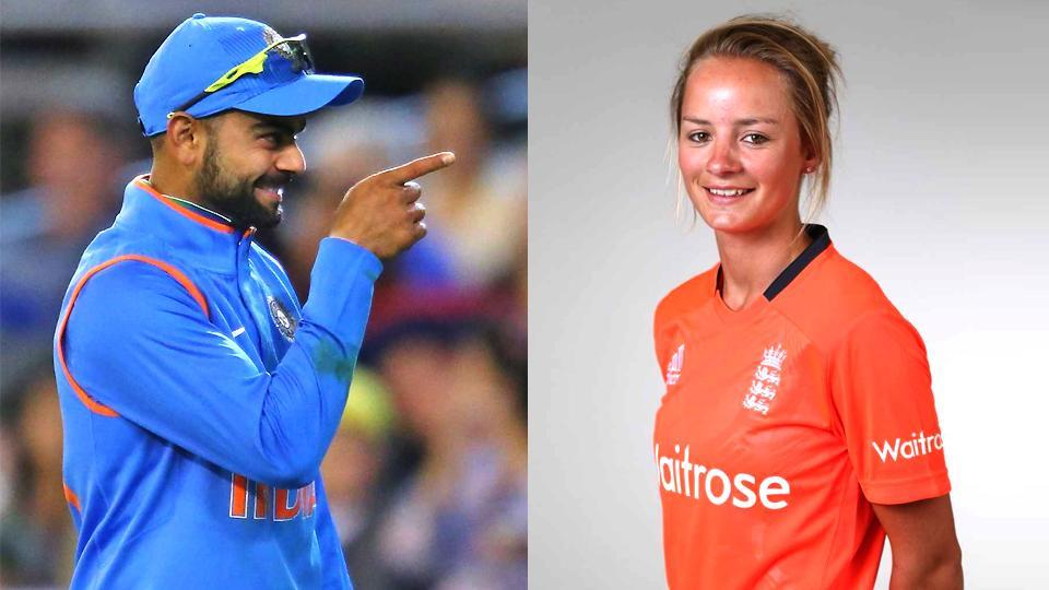 Danielle Wyatt clarified that the bat manufacturers had made a mistake in Virat Kohli's name which was inscribed.