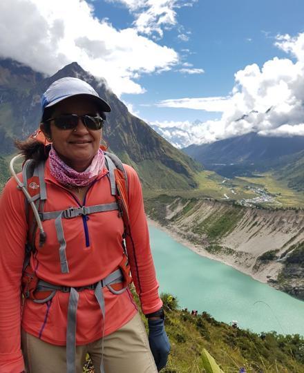 IPS Aparna Kumar at the base camp.
