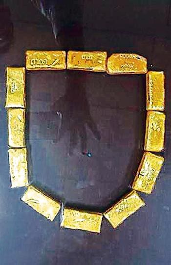Custom officials seized about 2.4 kg gold worth Rs71 lakh from two women passengers. A total of 12 small gold bars have been recovered and customs said that women were trained to insert gold in their rectum.