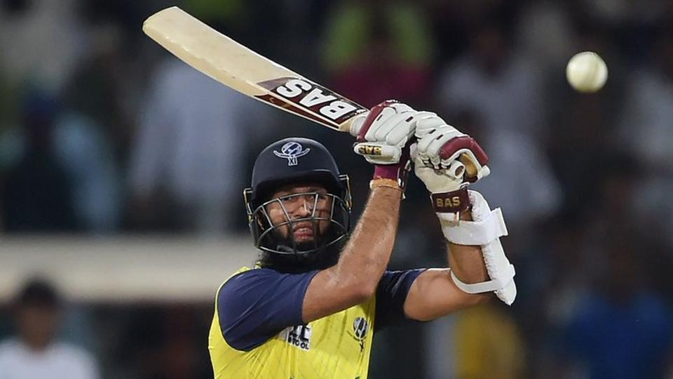 Amla eventually scored an unbeaten 72 to take World XI home with the help of Perera. He scored the only half-century of the match. (ICC/Twitter)
