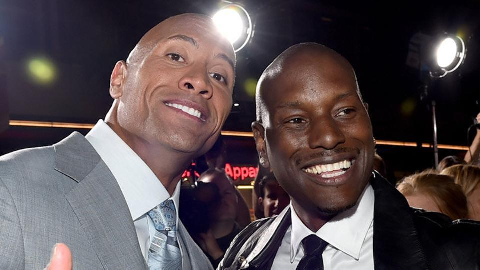 """""""I'm no Rock hater,"""" wrote Tyrese Gibson."""