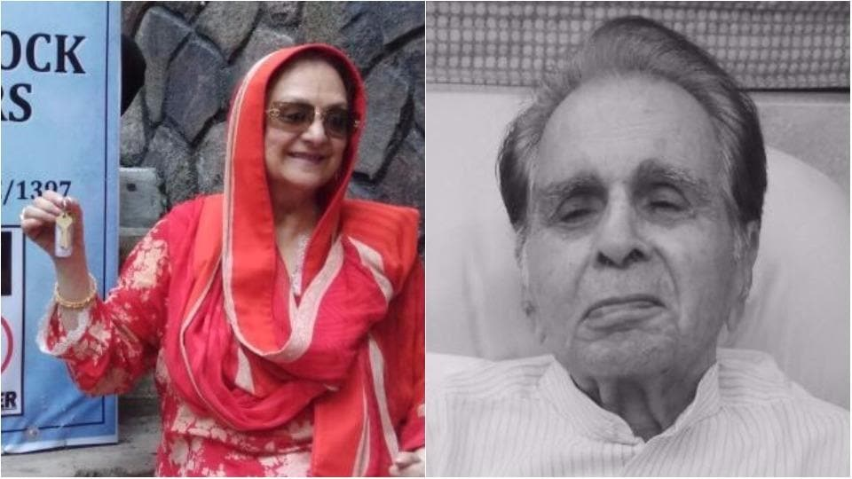 Saira Banu and Dilip Kumar are happy as they could be upon getting possession of their property.