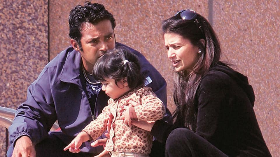 (File photo)Leander Paes has been termed as an 'absentee father' in the plea which had the original suit stating Rs 1 crore as damages sought.