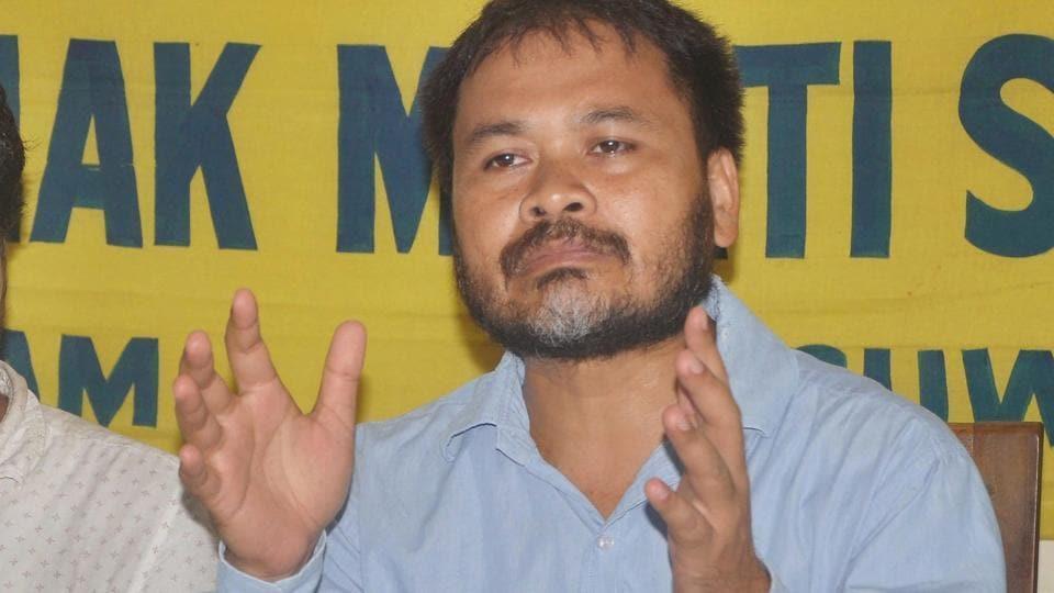 Krishak Mukti Sangram Samiti leader Akhil Gogoi.