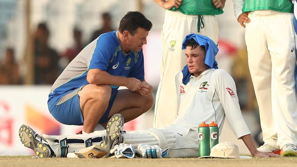 Peter Handscomb lost 4.5 kgs due to the intense heat and humidity in Chittagong but his effort of 82 helped Australia beat Bangladesh in Chittagong to level the series 1-1.