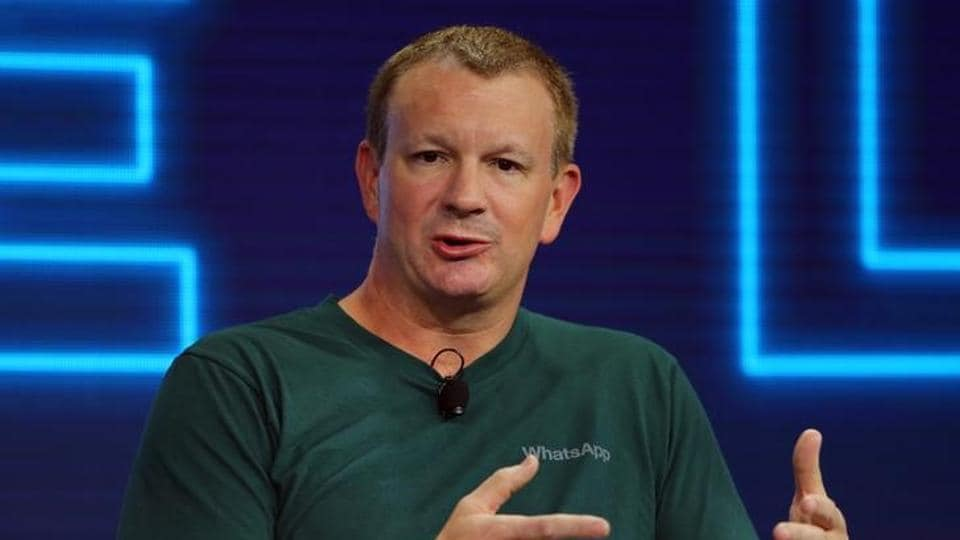 Brian Acton, co-founder of WhatsApp, speaks at the WSJD Live conference in Laguna Beach, California October 25, 2016. REUTERS/Mike Blake