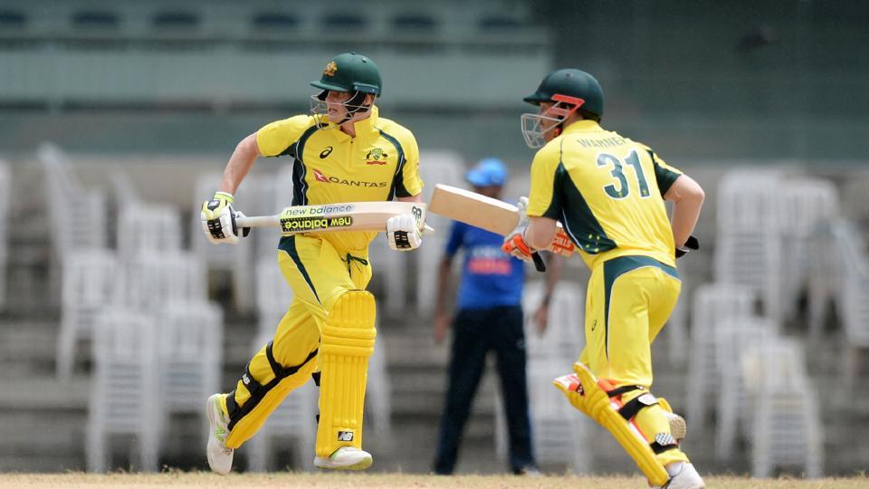 The pair put on 106 runs for the second wicket as Australia eyed a big total. (AFP)