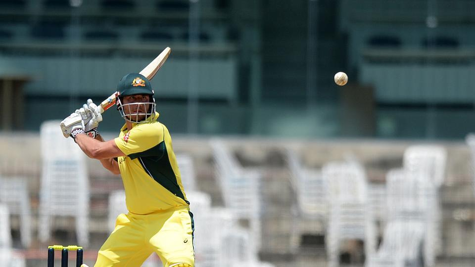 Stoinis, along with Matthew Wade, batted brilliantly in the death overs as Australia reached 347/7. Stoinis contributed with 76. (AFP)