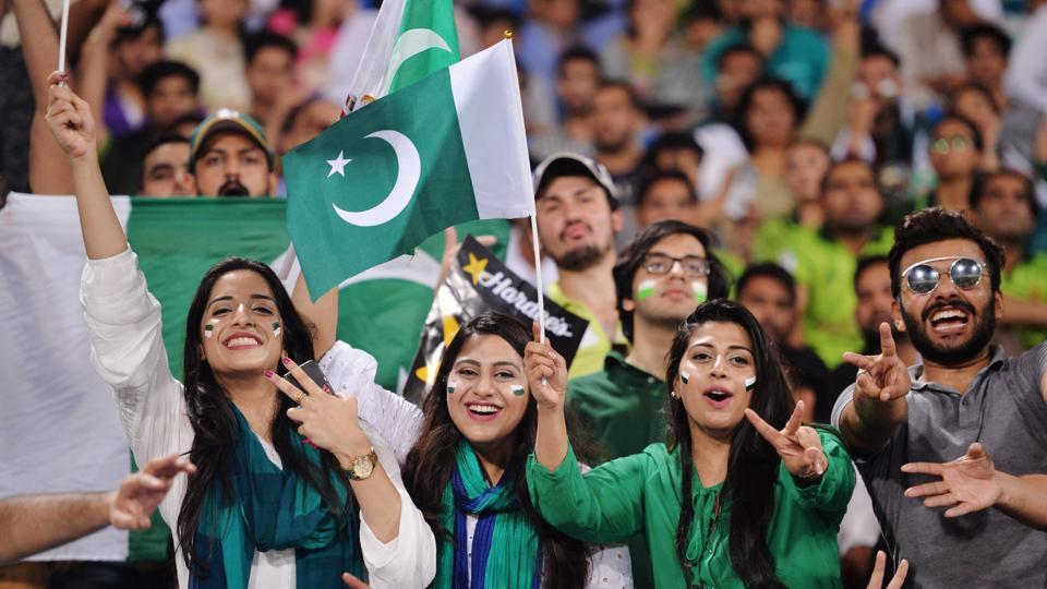 Fans were in a festive mood at Lahore as international cricket returned to Pakistan after a gap of two years with the 'Independence Cup' against the ICCWorld XI.