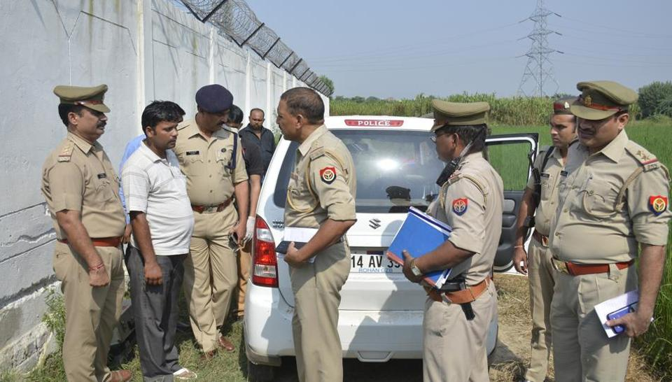 The body was found in his car near an under construction electricity substation near Raj Nagar Extension.