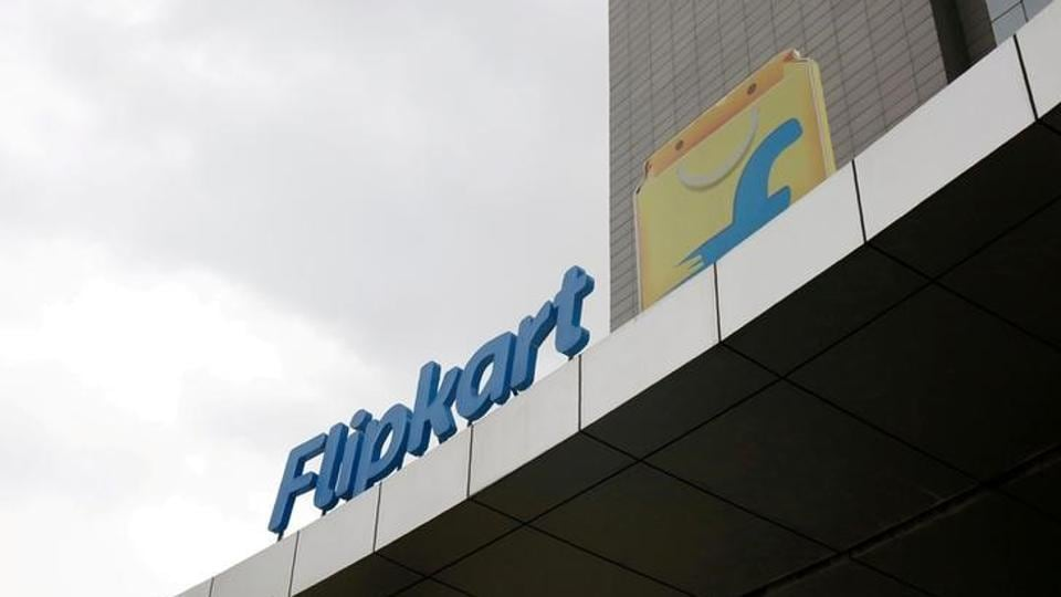 The logo of India's largest e-commerce firm Flipkart is seen on the facade of the company's headquarters in Bengaluru.