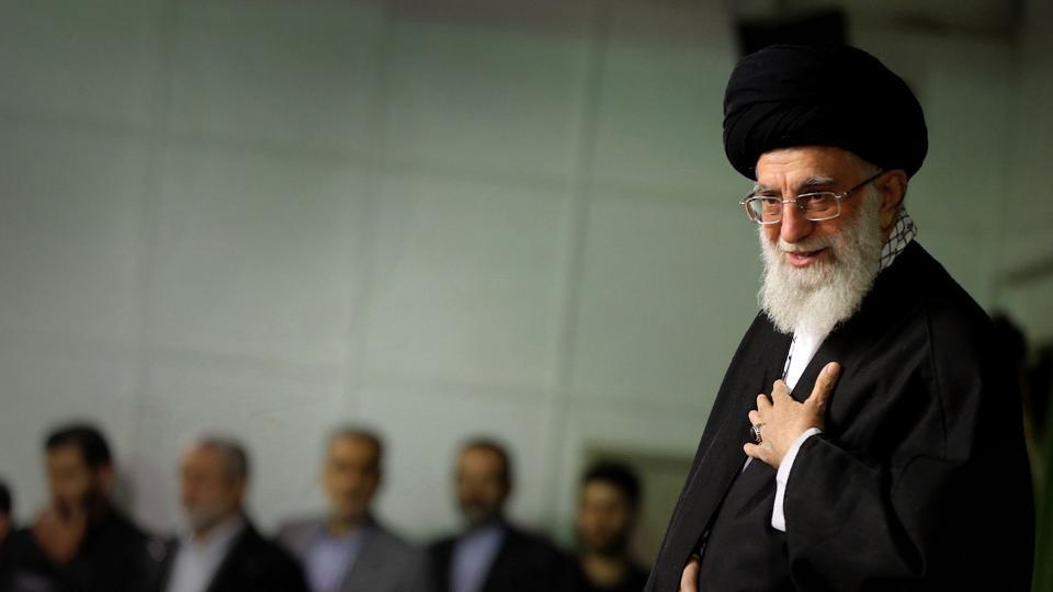 A handout picture released by the official website of the Centre for Preserving and Publishing the Works of Iran's supreme leader Ayatollah Ali Khamenei, shows him speaking during a ceremony in Tehran on November 25, 2014.