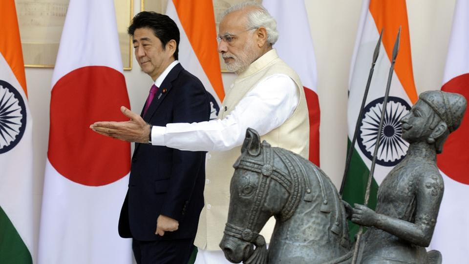A day before Abe's visit to Gujarat, PM Modi said, 'India truly values the relationship with Japan and we look forward to further boosting our bilateral ties in a wide range of sectors.' This is also the first time that a head of state skips New Delhi during his/her bilateral visit to India. (Sonu Mehta / HT Photo)