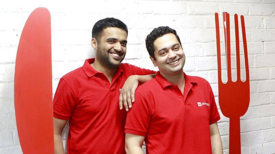 Zomato founders Deepinder Goyal and Pankaj Chaddah.
