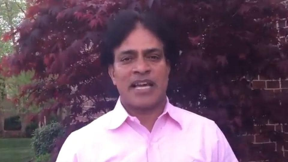 Screengrab featuring Achutha N Reddy from a video posted on his YouTube channel. Reddy was stabbed and killed near his office in the US state of Kansas on Wednesday.