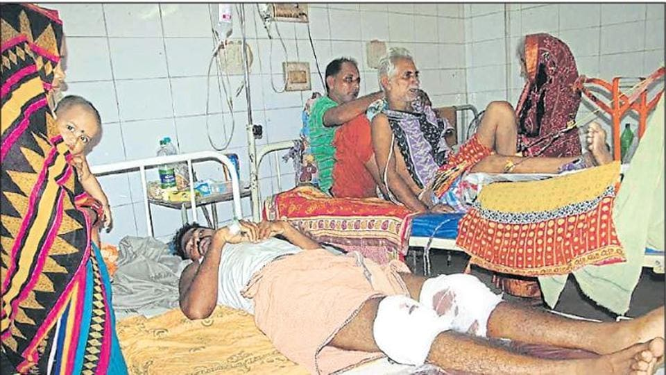 Gangster Souri Nahak is admitted to a hospital after police fired at his legs during an encounter.