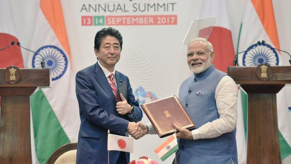 bullet train,Shinzo Abe,Narendra Modi
