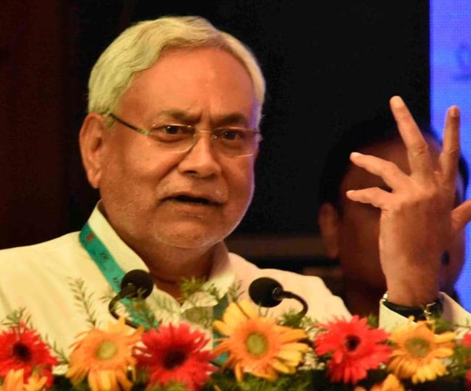 Chief minister Nitish Kumar at an IT investors'  conclave in Patna on Thursday.